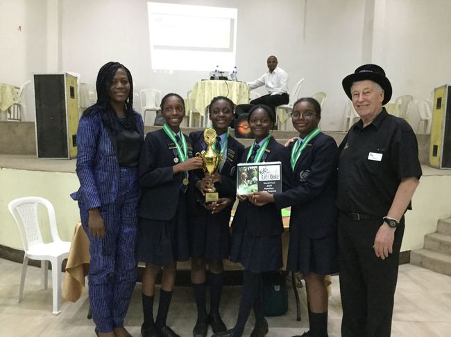 Grange School Team 1, winners of the 2020 Nigeria National Final