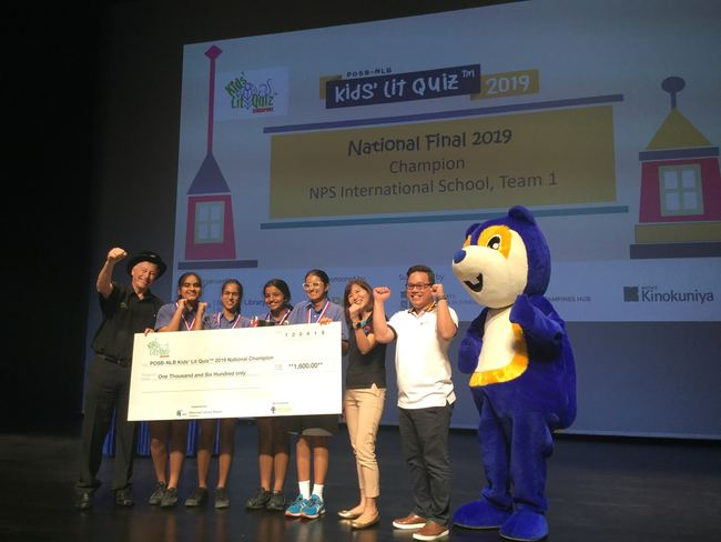NPS International School, winners of the 2019 Singapore KLQ National Final