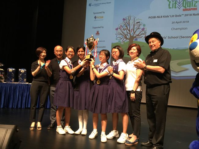 Raffles Girls' School Secondary, winners of the 2018 Singapore National Final