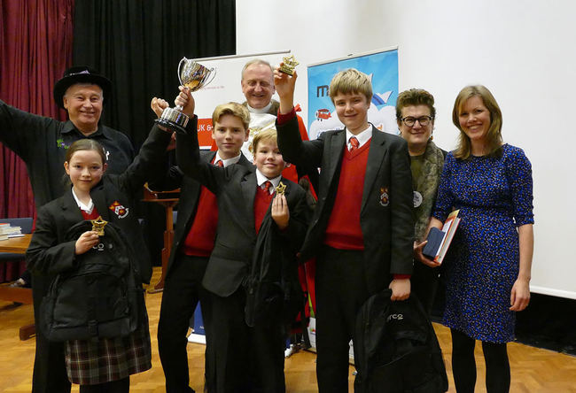 Kingston Grammar School, winners of the 2016 UK National Final